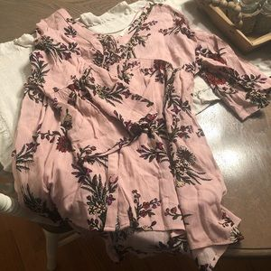 Cute Floral Boutique Babydoll Style Top